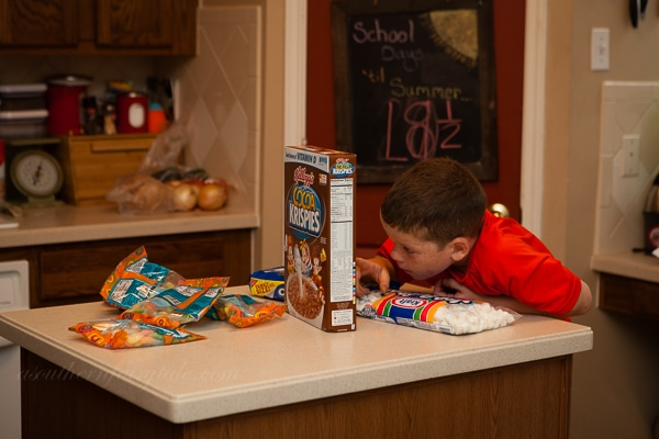 Checking out the Dirt Cake Rice Krispies Treats recipe