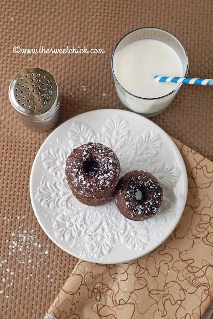 Mini Chocolate Oreo Doughnuts