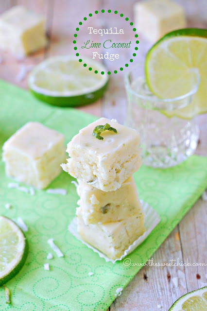 Tequila Lime Coconut Fudge | The Sweet Chick