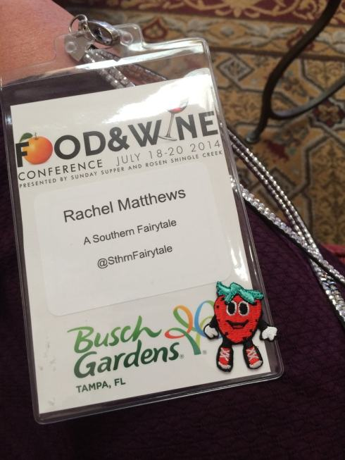 Food and Wine Conference Badge