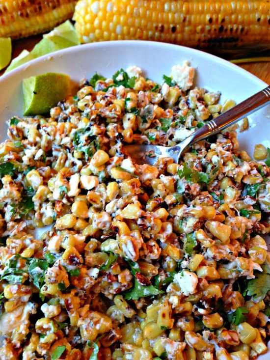 Mexican Cilantro Lime Corn Crema via From Everyday to Gourmet