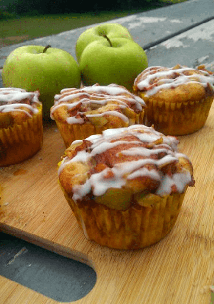 Country Apple Fritter Muffins | The Baking Chocola Tess