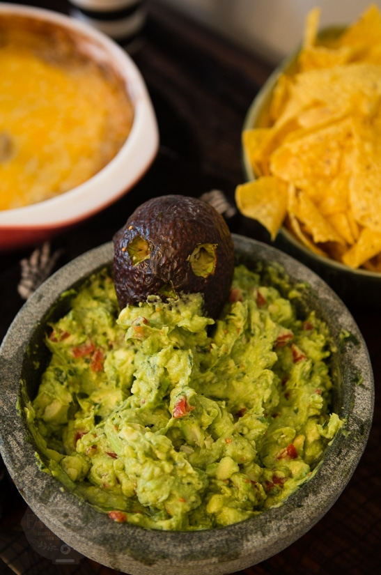 Best Damn Guacamole with a Carved Avocado