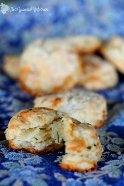 Brie and Chive Biscuits from The Gracious Wife