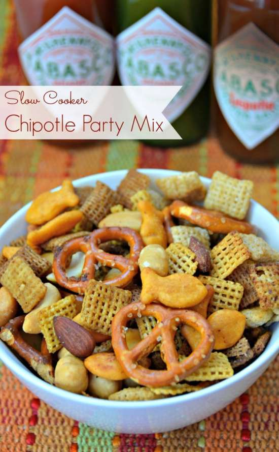 Slow Cooker Chipotle Chex Mix from Growing up Gabel