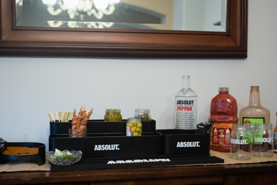 bloody mary bar set up