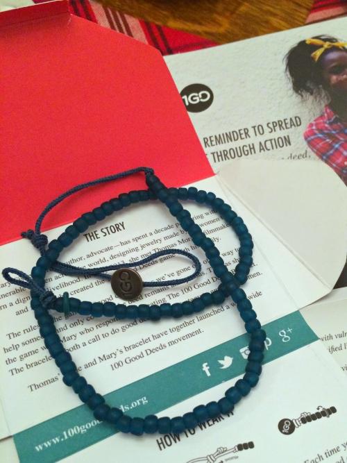 one good deed bracelet