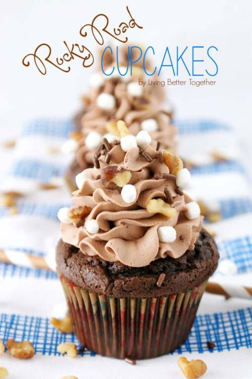 Rocky Road Cupcakes from Living Better Together