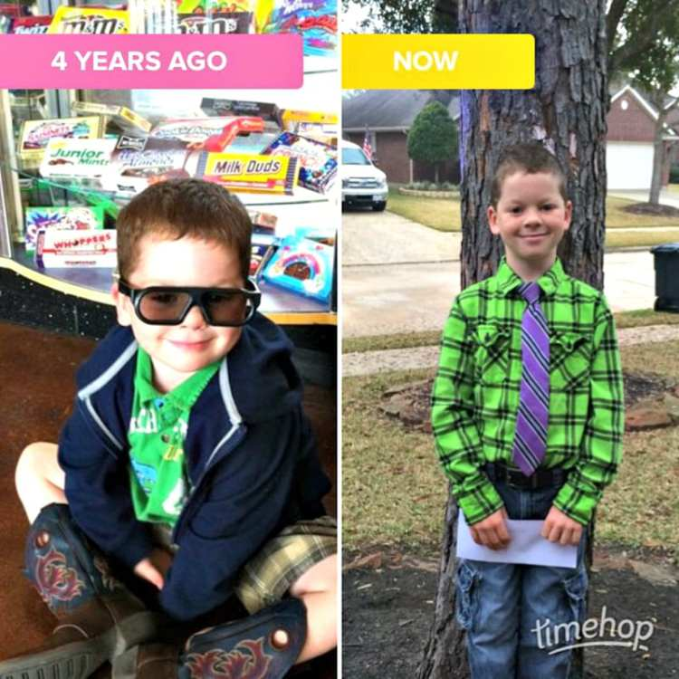 Time Hop App then and now