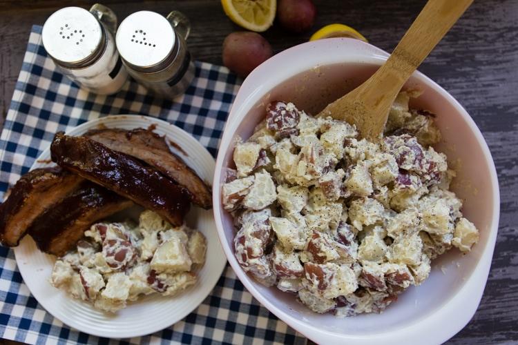 lemon horseradish potato salad by Katie Workman