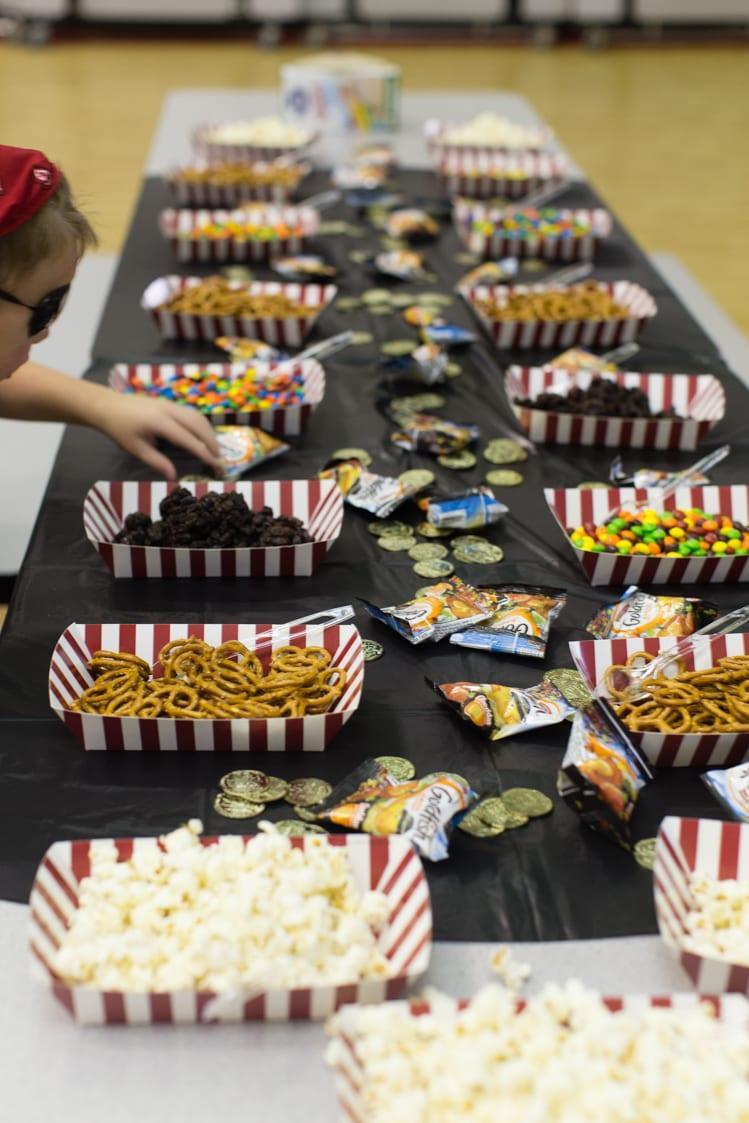 the fun snack table at the boy scout regatta