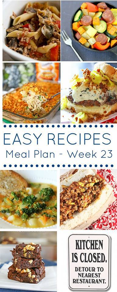 it's time for another Weekly Meal Plan full of delicious and easy recipes