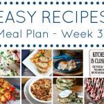 weekly meal plan week 31