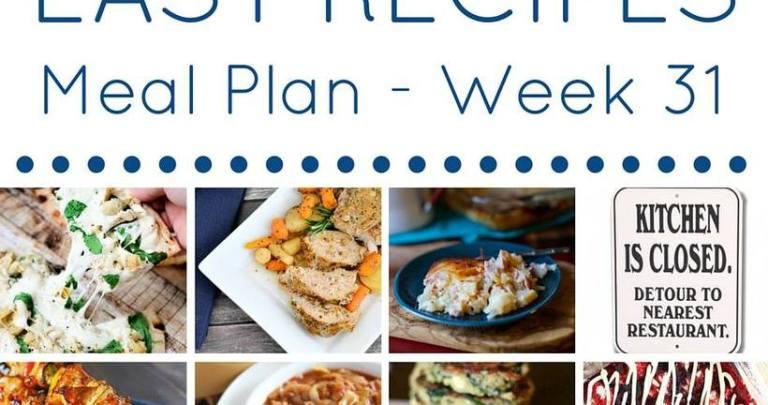 Weekly Meal Plan {Week 31}
