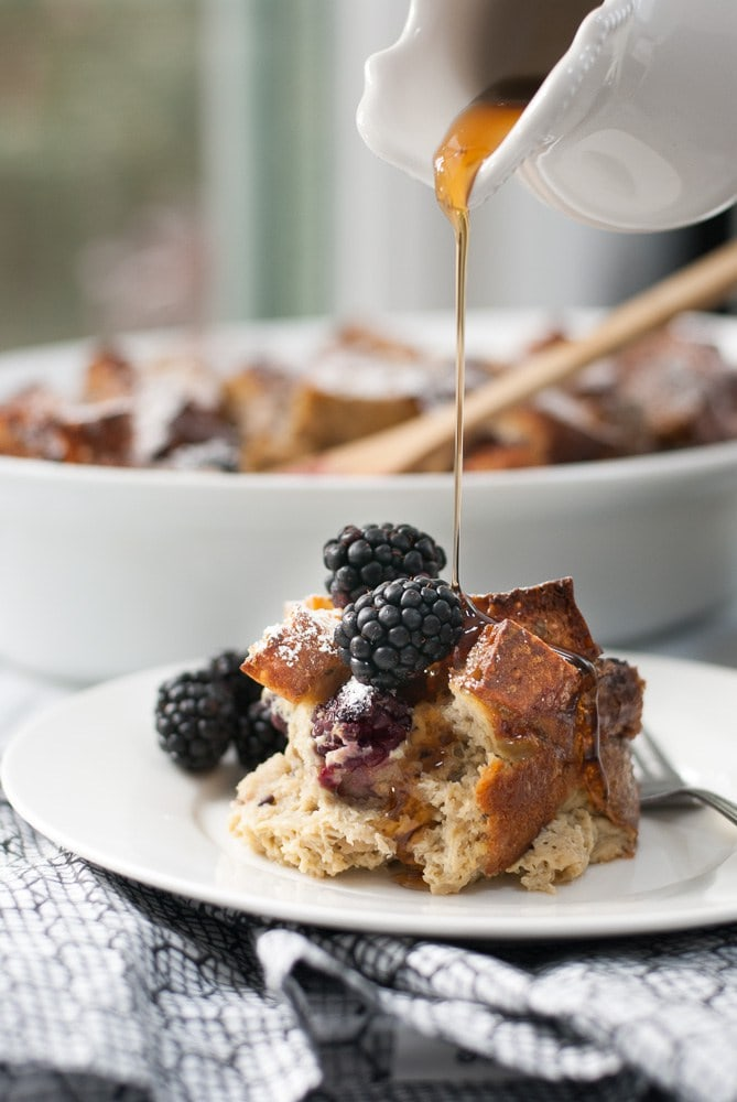 Baked Whole Grain Blackberry French Toast | Life is But A Dish