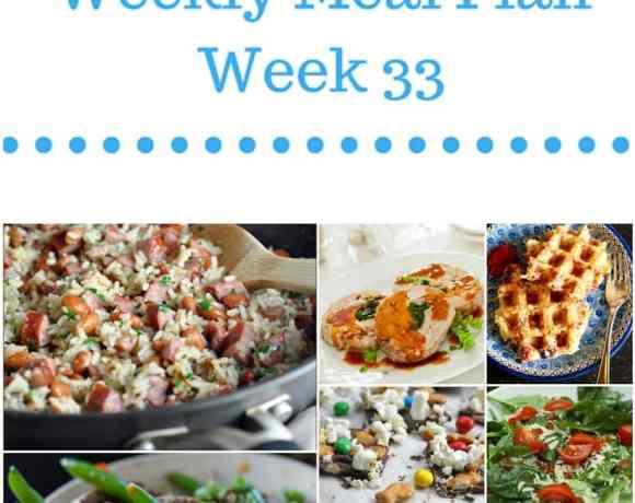 Weekly Meal Plan {Week 33}