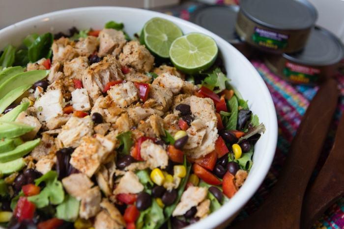 spicy blackened tuna salad