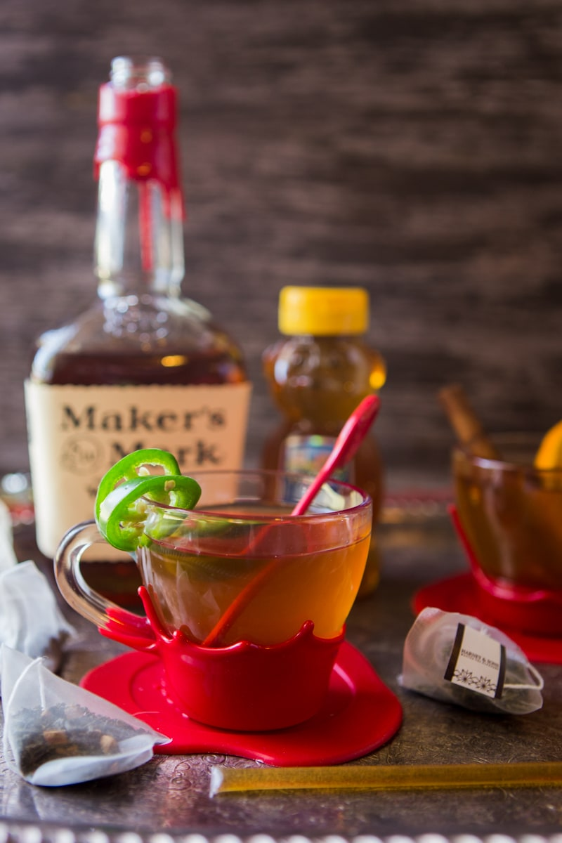 texas jalapeno hot-tea toddy with maker's mark
