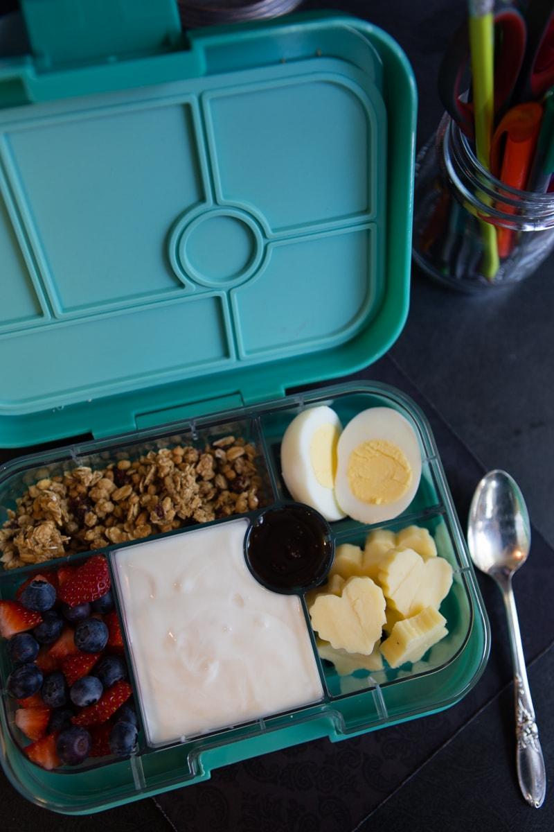bento box breakfast at work