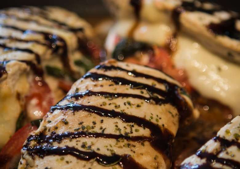 One Skillet Caprese Chicken