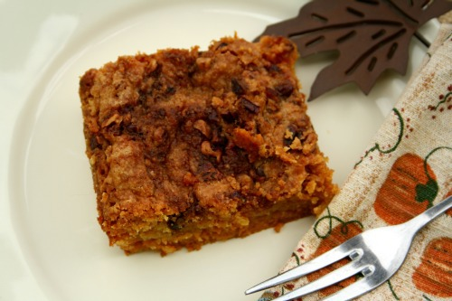delicious and easy one pan pumpkin crunch cake --- this easy southern dump cake is a perfect fall treat with its pumpkin pie spice and sweet topping, perfect served with homemade whipped cream or over blue bell vanilla ice cream   asouthernfairytale.com