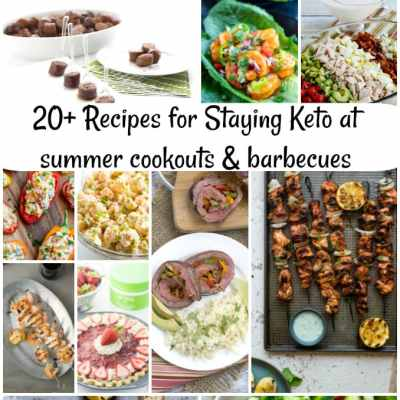 20+ recipes for eating keto at cookouts