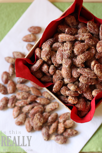 Oven roasted cinnamon sugar almonds