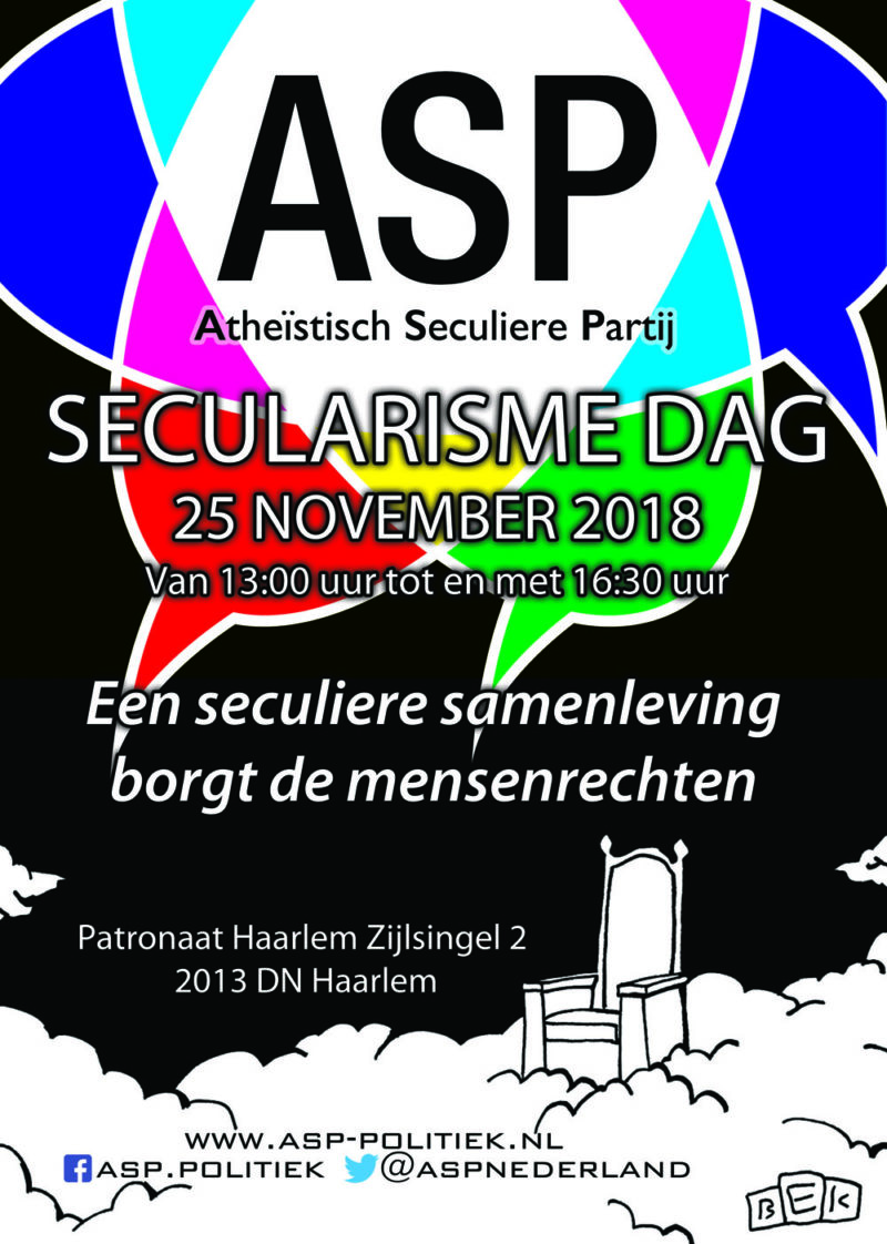 Secularismedag 25 november 2018 Haarlem