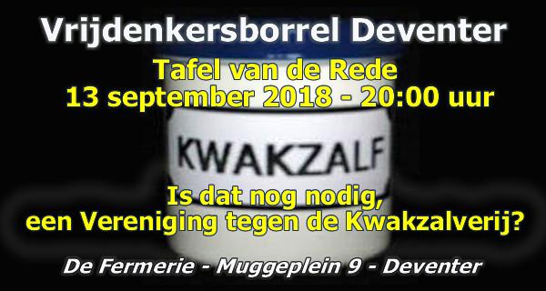 Tafel van de Rede Deventer Kwakzalverij 13 september 2018