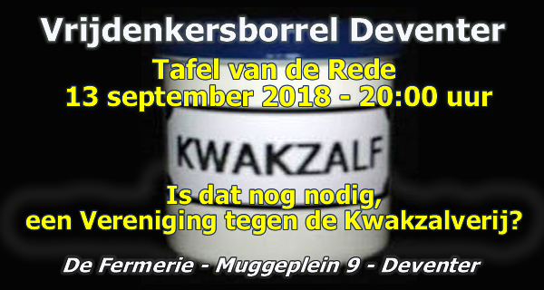 Tafel van de Rede Deventer Kwakzalverij 13 september 2018