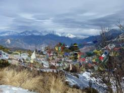 The view from Poon Hill - the highest point we reached on our trekking trip (3000m)