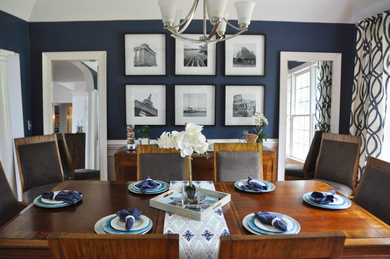 Navy Blue Dining Rooms