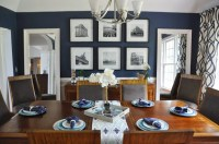 Navy Blue Dining Rooms