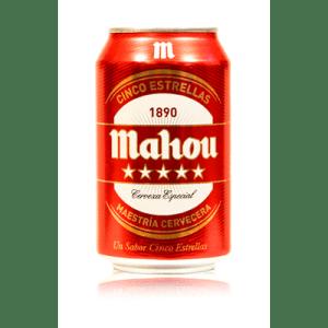Cerveza Cinco Estrellas MAHOU - Lata 33 cl - A Spanish Bite