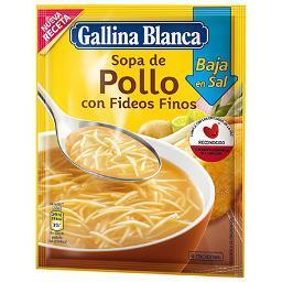 Sopa de Pollo con Fideos Baja en Sal GALLINA BLANCA - A Spanish Bite