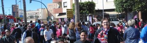 Grupo de ASPAPROS en el XII Ciclo de Música Sacra y  la Carrera Solidaria de la Mujer.