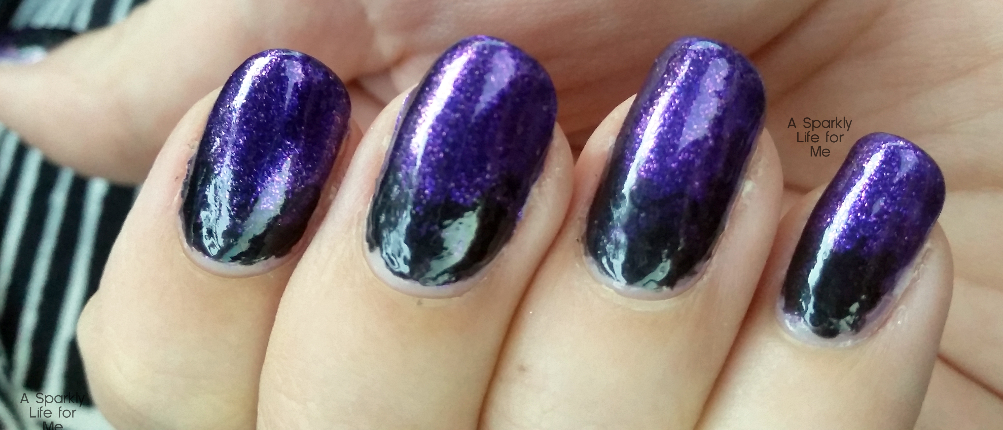 purple and black gradient nails a simple halloween nail art look halloween easy nail art - Halloween Easy Nail Art