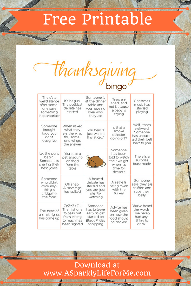 photograph relating to Free Printable Thanksgiving Bingo Cards called No cost Thanksgiving Bingo Activity Printable for Grownups