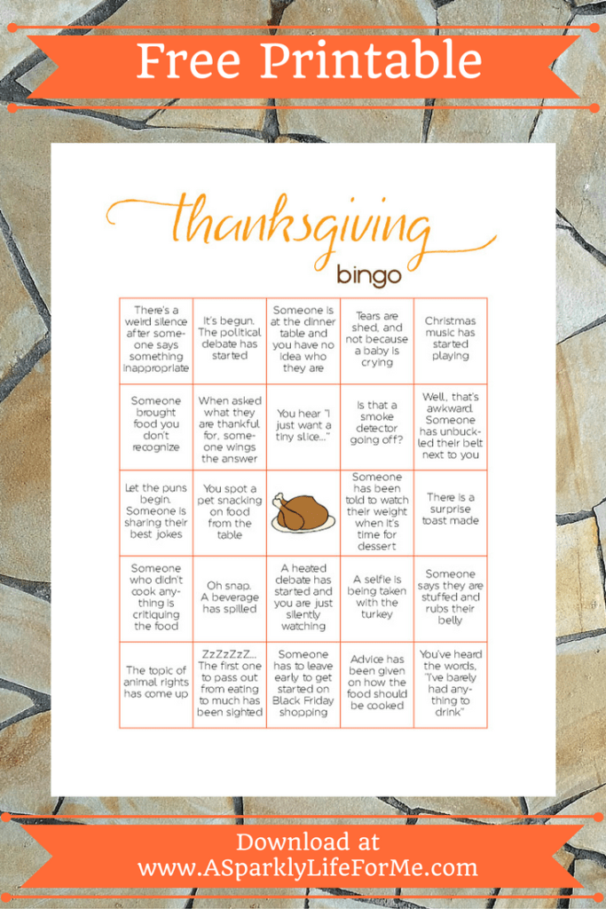 Free Thanksgiving Bingo Game Printable for Adults