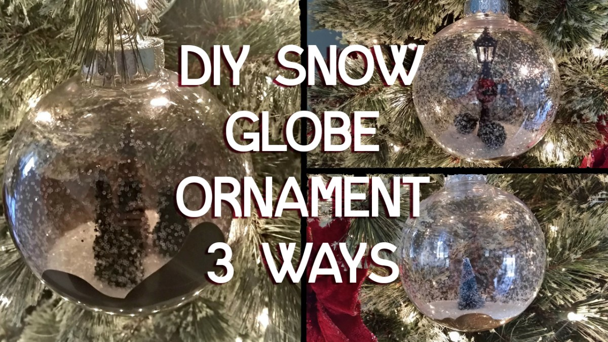 DIY snow globe ornament done 3 ways - tutorial by A Sparkly Life for Me