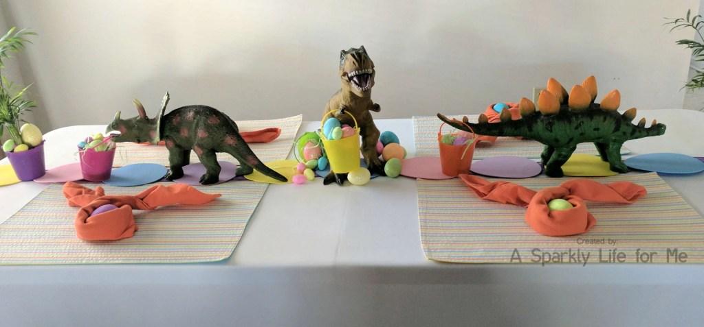 Dinosaur Easter Egg Hunt Tables Decor