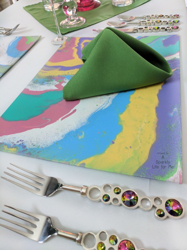 Colorful Marble Placemat DIY