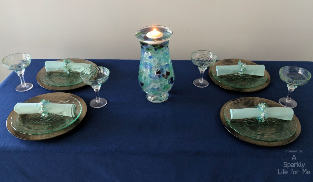 Sea Glass Hues Summer Tablescape Creating A Modern Coastal Table Decor