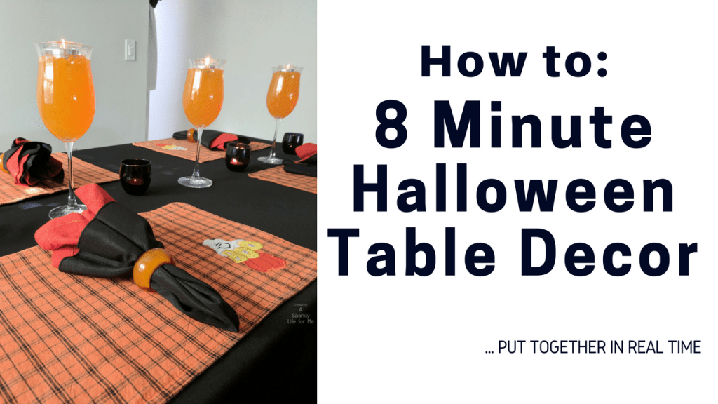 How To Thrift Store Halloween Table Decor by A Sparkly Life for Me