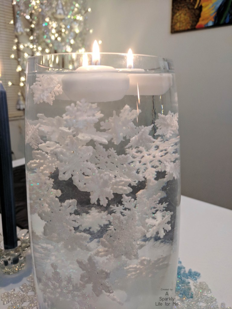 Submerged Snowflakes in Gel Beads Centerpiece