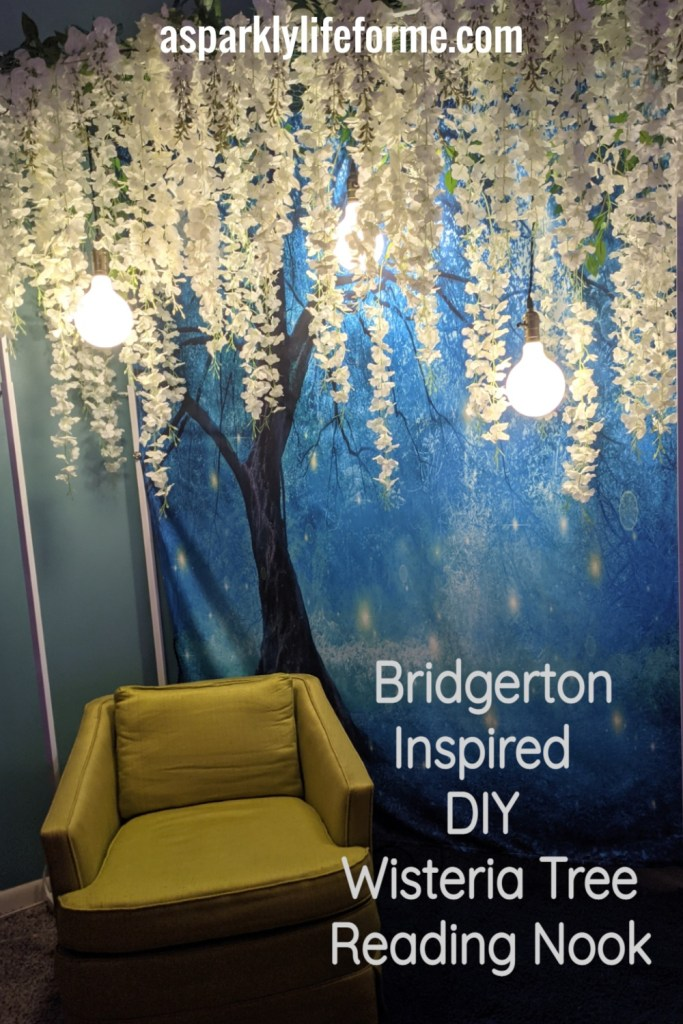 Bridgerton Inspired – DIY Wisteria Tree Reading Nook with Tapestry Backdrop