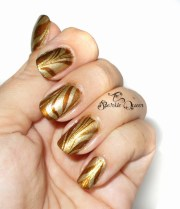 fall harvest water marble