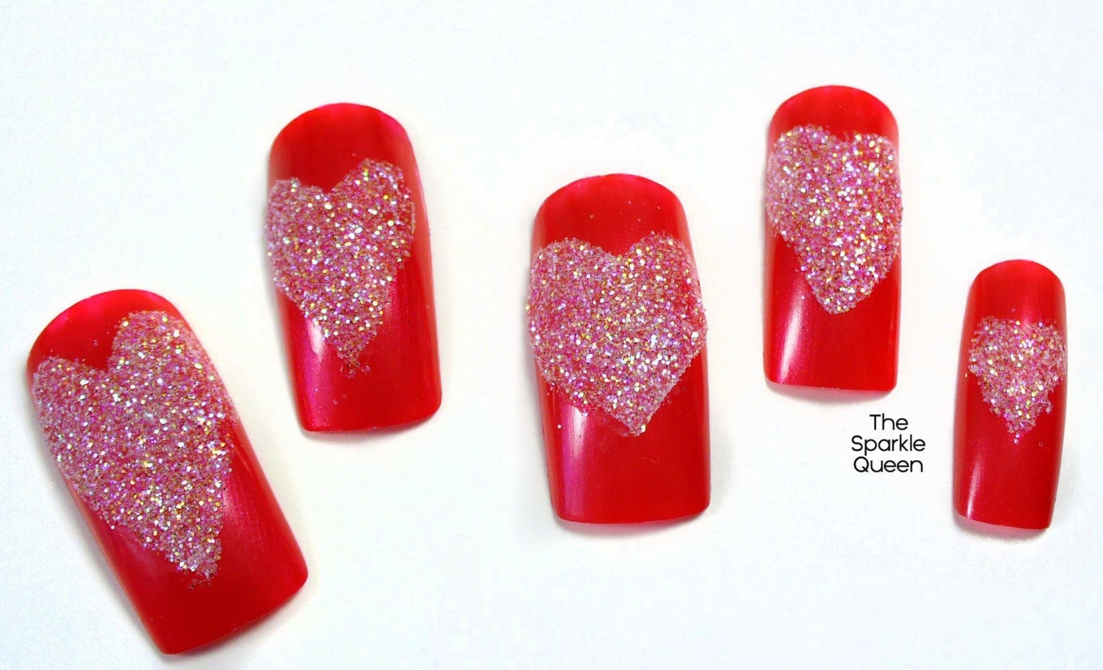 Easy Glitter Heart Nail Art {Video Tutorial}