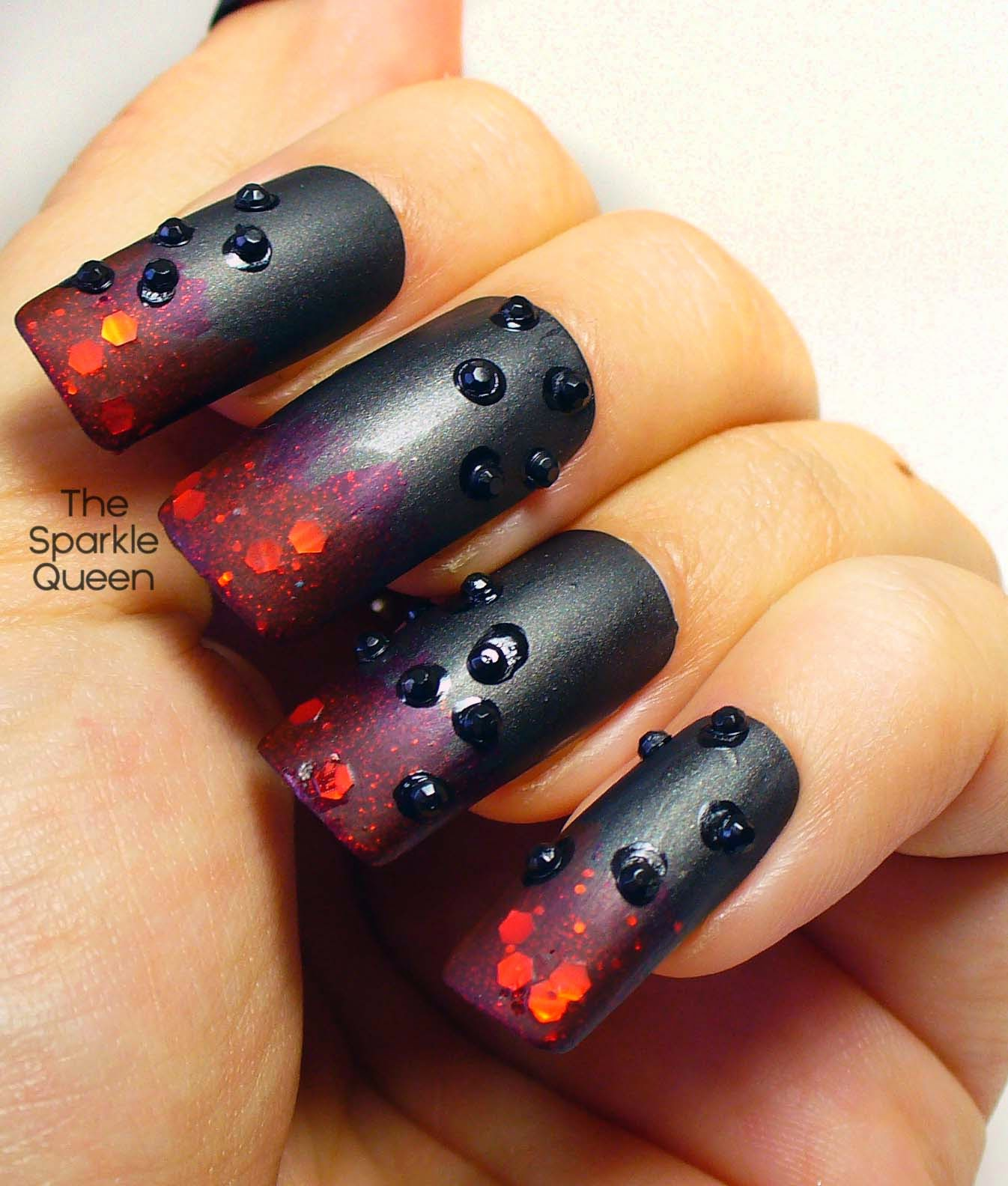Gothic Nail Art – FingerFood\'s Theme Buffet - A Sparkly Life for Me