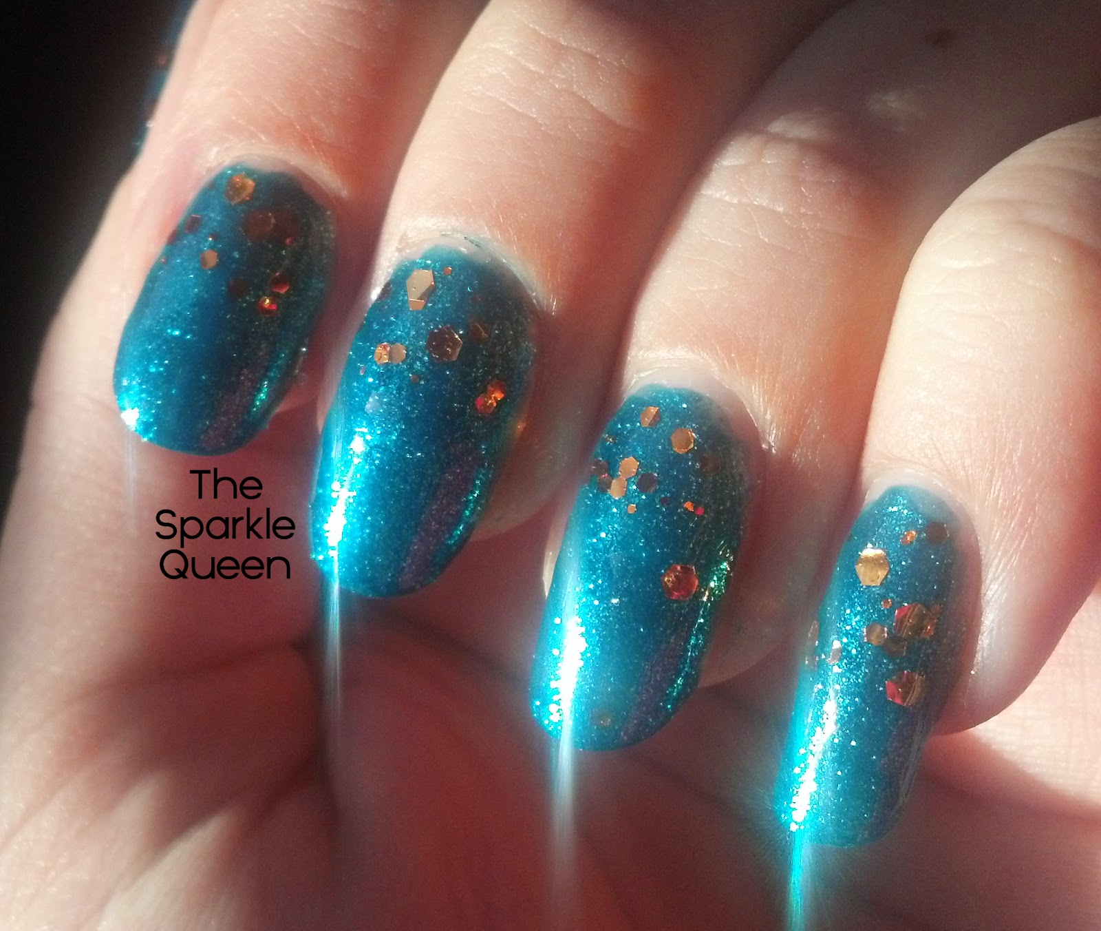 Sparkly blue and copper gradient nail art a sparkly life for me i love how sparkly these nails turned out you should see them dazzle in the sun they are just mesmerizing i wish the camera on my phone prinsesfo Choice Image